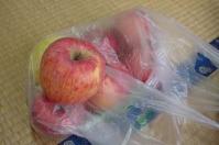 湯治の方よりいただいた津軽のりんご