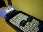 浴衣、タオル、歯ブラシ、 かみそり