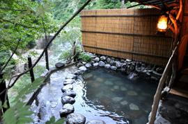 黒部峡谷-名剣温泉 温泉を楽しむ