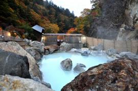 姥湯温泉-桝形屋旅館 温泉を楽しむ