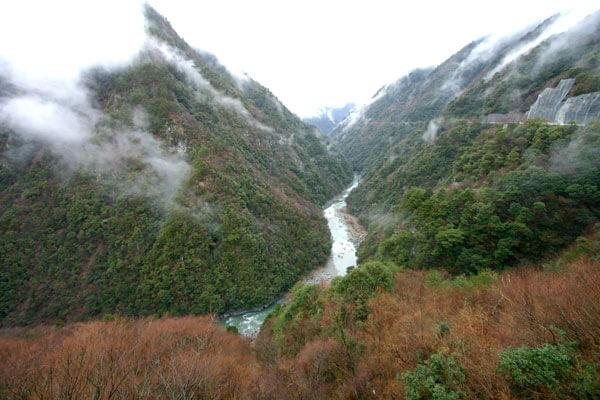 祖谷温泉からの景色