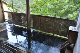 峩々温泉 温泉を楽しむ
