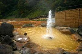 湯ノ沢間欠泉湯の華 温泉を楽しむ