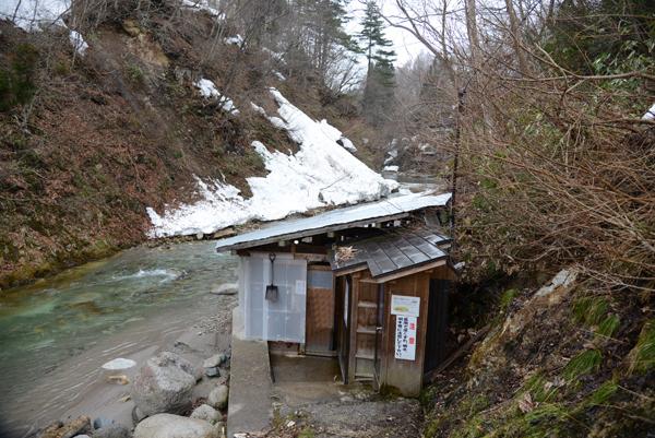 木賊温泉-岩風呂1