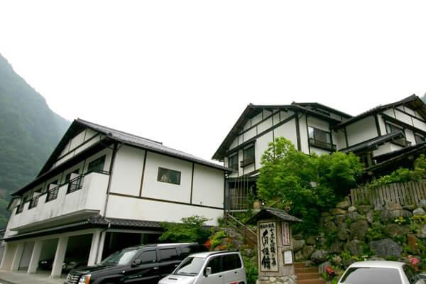 奈良田温泉 白根館 外観