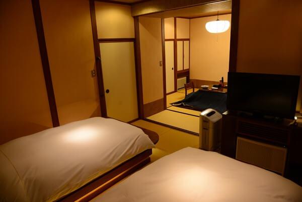 宿泊した部屋 外は寒いけど部屋はあたたかくて快適!