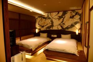 デザイナーズな雰囲気の寝室
