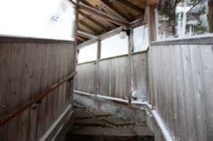 露天風呂までの道はかなり寒い