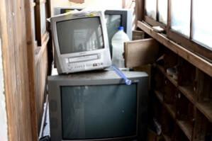 入口横にはテレビが、、、