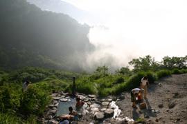 蓮華温泉-蓮華温泉ロッジ 温泉を楽しむ