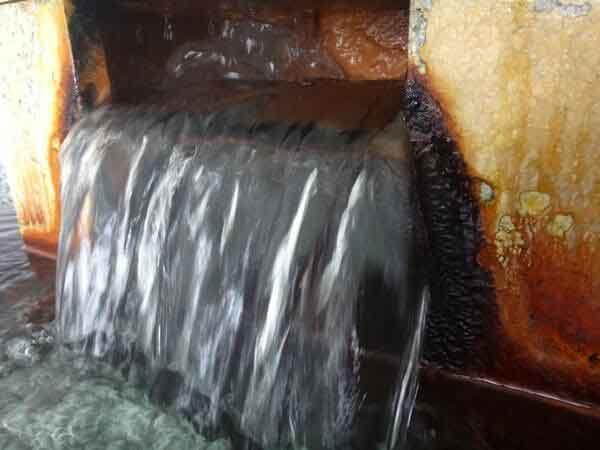 源泉湯口 ナトリウム-塩化物・炭酸水素塩泉 炭酸水素イオン(HCO3-)357.3mg