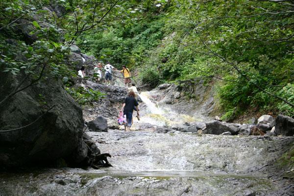 カムイワッカ湯の滝1