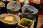 アスパラの羹、鯉旨煮、茸白和、舞茸旨煮、紫蘇シメジ