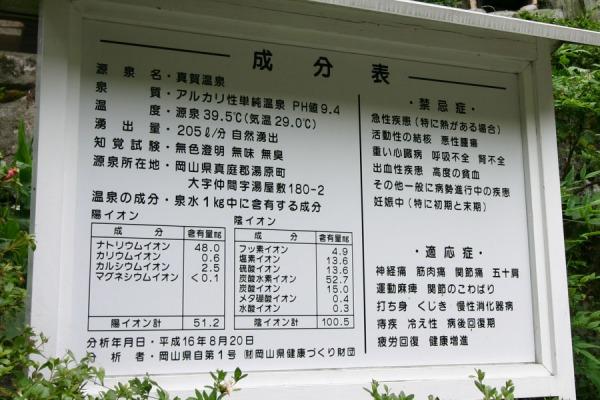 真賀温泉-真賀温泉館分析表