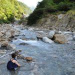 祖母谷温泉 河原の露天風呂