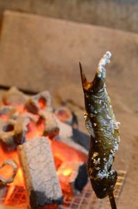 岩魚炭火焼き