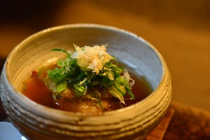 筍と木耳の揚げおこわスープ