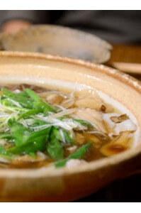 遠州黒豚の天然きのこ鍋