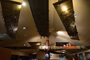 ラウンジのお洒落な天井