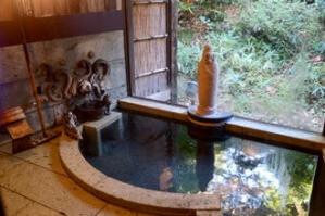 独特の雰囲気の浴室