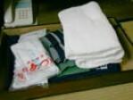 浴衣・大小タオル・歯ブラシ