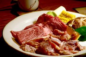 網焼き用の肉と野菜