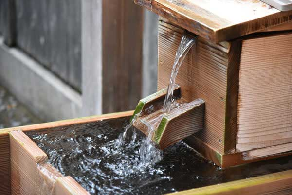宿泊者専用露天風呂 鷹見の湯源泉 かけ湯