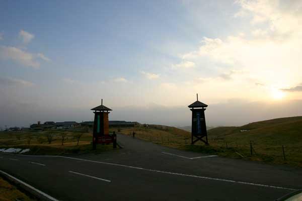 国立公園内の久住高原コテージ