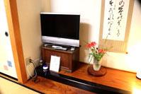 テレビ、蚊取り線香、手持ちランプ