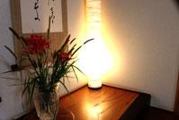 生け花、照明